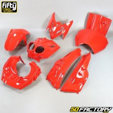 Fairing kit MBK  Stunt,  Yamaha Slider (dual optics) 50 2T FIFTY red