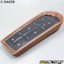 Scrambler seat C-RACER V2 brown universal