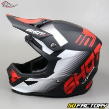 Helmet cross Shot Furious Black and red trust