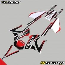 Decoration kit Gilera SMT  et  RCR (2003 to 2010) Gencod red