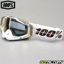 Brille 100% Racecraft LTD Spiegelschirm aus Weißgold