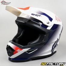 Casco cross Shot Furious Confía en blanco, azul y rojo talla XL