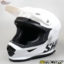 Helm cross Shot Furious Raw weiß und schwarz glänzend Größe L