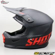 Helmet cross Shot Furious Raw black and red