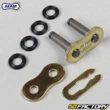 Acoplamiento rápido de cadena 428 Afam (Juntas tóricas) oro