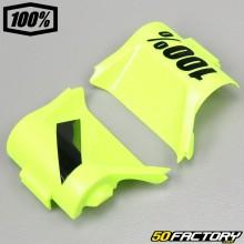 Couvercles pour masque 100% à système roll-off jaunes