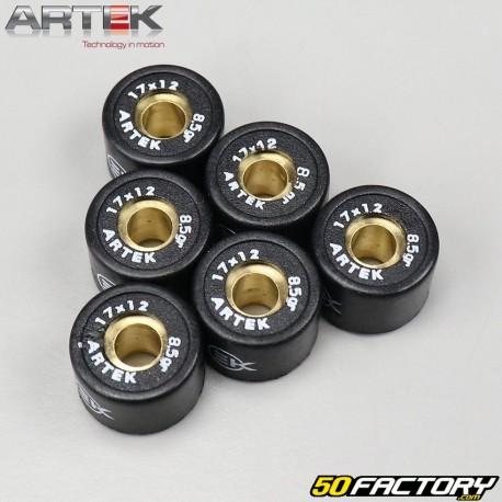 Galets de variateur 8.5g 17x12mm Aprilia SR50, Suzuki Katana...Artek