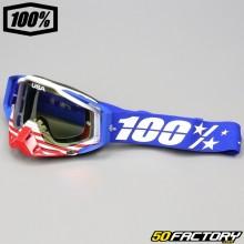 Masque 100% Racecraft Anthem écran miroir rouge et bleu