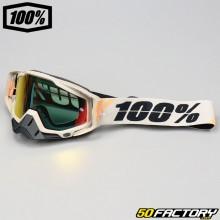 Gafas 100% Racecraft Pantalla de espejo rojo Poliet