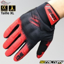 Gloves cross Shot Smoke CE homologated motorcycle red size XL