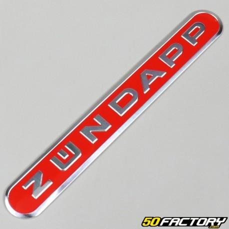 Emblème long rouge Zündapp GTS50 et KS50