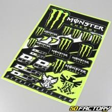 Planche de stickers Monster Energy Race