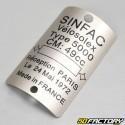Placa del fabricante (en blanco) SINFAC Solex 5000