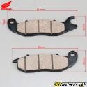 Plaquettes de frein avant ORIGINE Honda CB-F, CBR 125 (2011 à 2017)