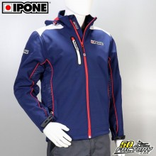 Veste softshell Ipone 100% Motorcycle bleu taille XL