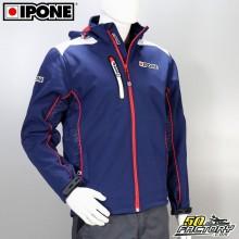 Giacca softshell Ipone 100% Moto blu taglia XL