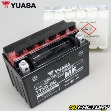 Battery Yuasa YTX9-BS 12V 8Ah acid Piaggio Zip,  Sym Orbit,  Xmax,  Burgman...