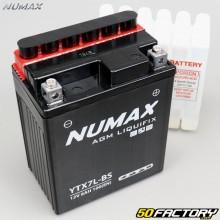Batterie YTX7L-BS 12V 7Ah acide Hanway Furious, Honda, Piaggio, Vespa... Numax premium