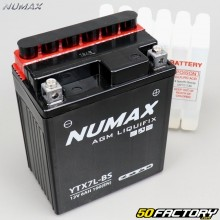 Bateria YTX7L-BS 12V 7Ah ácido Hanway FuriousHonda, Piaggio,  Vespa... Numax