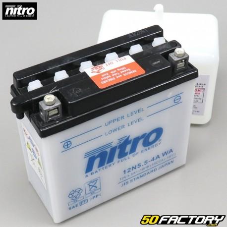 Batterien Nitro 12N5,5-4A 12V 5,50Ah Säure Yamaha MT, WR, YZF-R 125