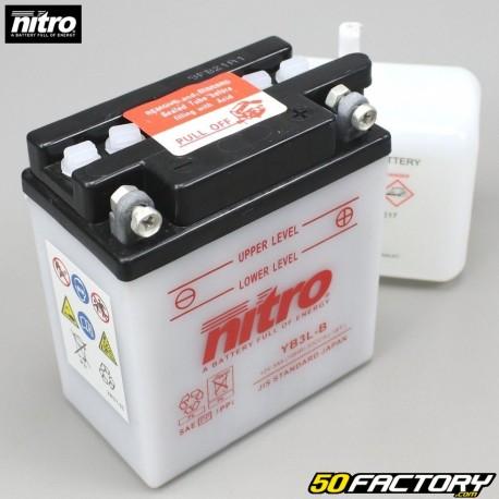 Batterie Nitro YB3L-B 12V 3Ah acide AGM 50 Café Racer et Yamaha 125 DTR