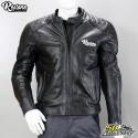 Blouson cuir Restone noir homologué CE moto taille L