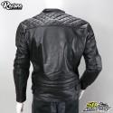 Blouson cuir Restone noir homologué CE moto taille XL