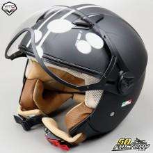 Helm Jet Vito Moda schwarz und weiß Größe M