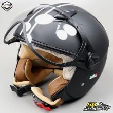 Helm Jet Vito Moda schwarz und weiß Größe S