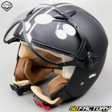Helm Jet Vito Moda schwarz und weiß Größe XS