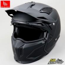 Casque trial (modulable jet) MT Helmets Streetfighter noir mat taille M