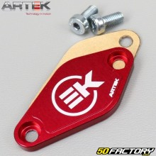 Blanking plate  oil pump Derbi, AM6, Morini Artek red