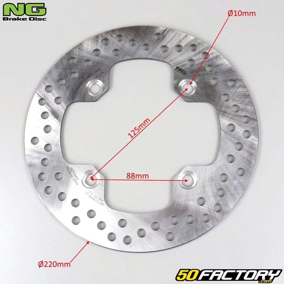 XR 500 NG disque de frein pour Honda Dominator NX 500 XR 600/R arri/ère