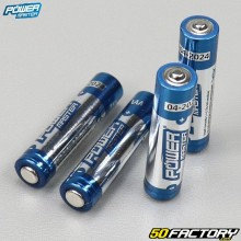Piles alcalines Super LR03 type AAA Power master (lot de 4)