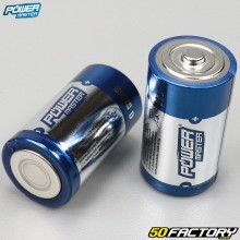 Batterie alcaline Super LR20 tipo D Power master (lotto di 2)