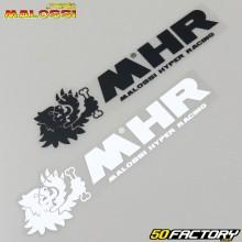 Stickers Malossi MHR 150x40mm white and black