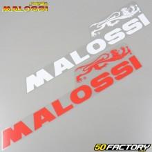 Pegatinas Malossi 600x140mm blanco y rojo