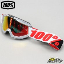 Goggles 100% Accuri Solberg with red mirror screen