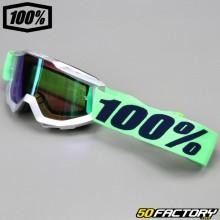 Maschera 100% Accuri Nova con schermo a specchio verde