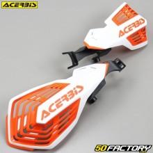 Carenados Protectores de manos Acerbis K-Future blanco y naranja