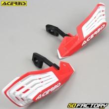 Carenados Protectores de manos Acerbis X-Future rojo y blanco