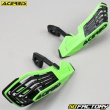 Carenados Protectores de manos Acerbis X-Future verde y negro