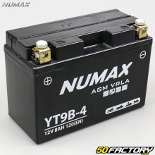 Battery YT9B-4 12V 8Ah acid without maintenance Yamaha Xmax,  Majesty, XT… Numax Premium