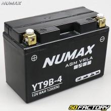 Batterie YT9B-4 12V 8Ah gel Yamaha Xmax, Majesty, XT… Numax premium