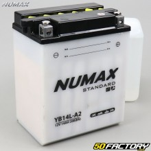 Batterie Numax Standard YB14L-A2 12V 14Ah acide Peugeot Geopolis, Aprilia Pegaso, Piaggio X9…