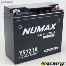 Battery YS1218 12V 20Ah acid without maintenance BMW R, K75… Numax Premium