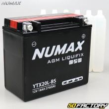 Batería YTX20L-BS 12V 18Ah ácido Harley Davidson FLST, XL, Yamaha Grizzly ... Numax premium