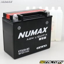 Bateria YTX20-BS 12V 18Ah ácido Artic Cat Bearcat, F8, Crossfogo ... Numax premium