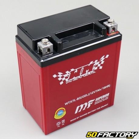 Batterie YTX7L-BS 12V 7Ah Gel Hanway Furious, Honda, Piaggio,  Vespa...