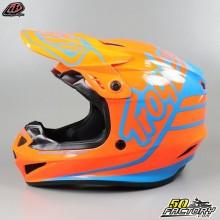 Helmet cross Troy Lee Designs GP Silhouette orange and cyan size S